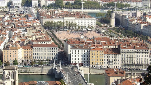 Place Bellecour à Lyon